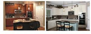 Painting Kitchen Cabinets White Before And After by Painted Cabinets Nashville Tn Before And After Photos