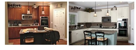 painting kitchen cabinets white before and after painted cabinets nashville tn before and after photos