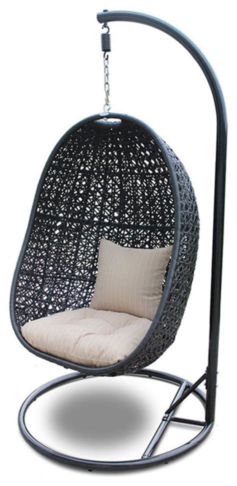 modern hanging chair nimbus modern outdoor hanging basket chair with stone