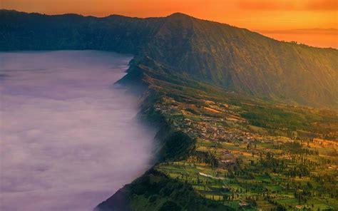 landscape nature village mount bromo java indonesia