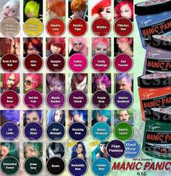 manic panic colors on hair manic panic color chart hair shops colors