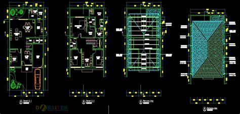 gambar rumah format dwg referensi gambar rumah mewah type 180 dwg format autocad