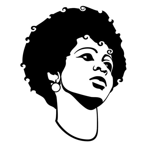 Wajah Afro black vector if you use this image give