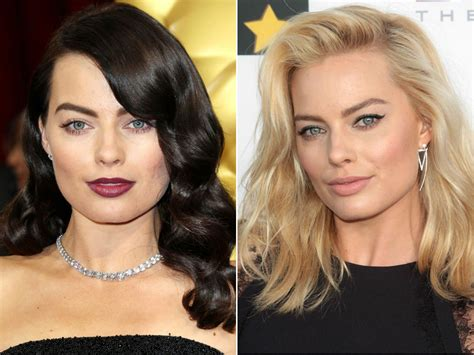 hair makeover videos margot robbie debuts dramatic hair makeover at the oscars