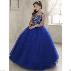 princess crystal formal dresses kids pageant birthday prom