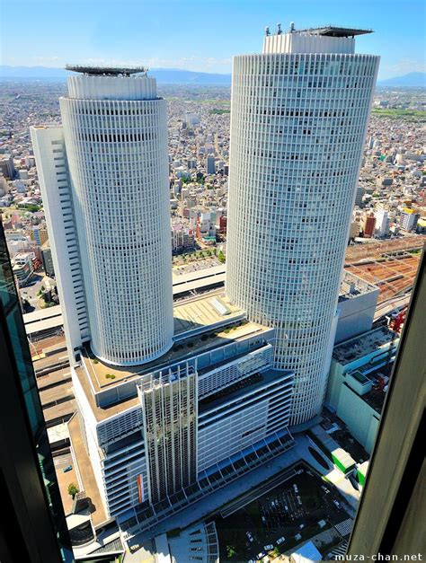 Modern Japanese Architecture the asymmetric twin jr central towers