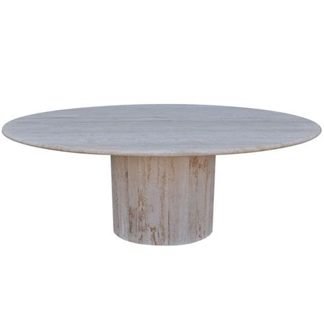 travertine dining room table oval travertine dining table at 1stdibs