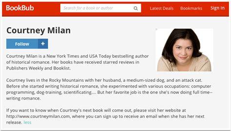 biography authors list 20 fantastic bookbub author profile exles