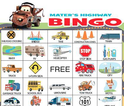 mater's highway bingo | disney family