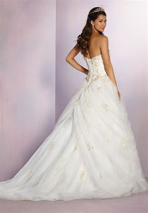 Alfred Angelo Disney Fairy Tale Weddings Bridal Collection 254 Belle Wedding Dress   The Knot