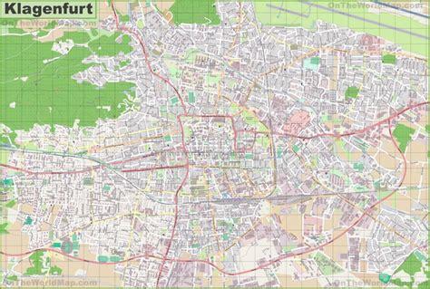 klagenfurt map large detailed map of klagenfurt