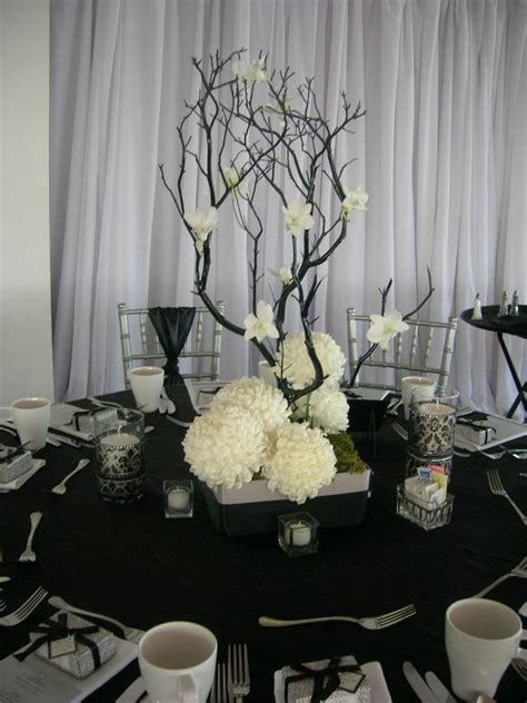 17 best images about black and white centerpieces flower