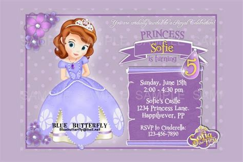 princess sofia birthday invitation templates 11 disney invitation templates free sle exle