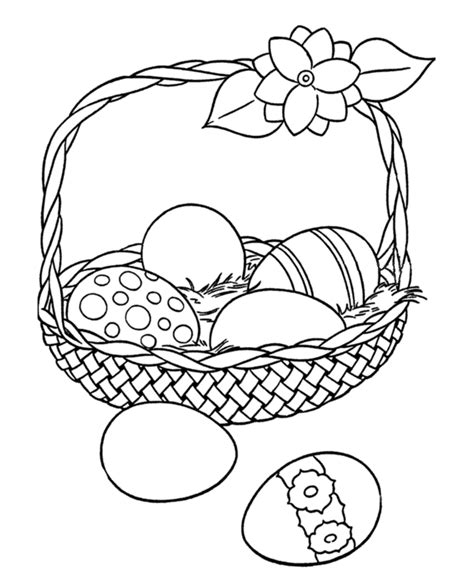easter egg coloring ideas easter egg coloring pages big easter basket with eggs