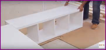 Diy Platform Bed Using Shelves Diy Ikea Bookshelf Platform Bed With Storage Diy