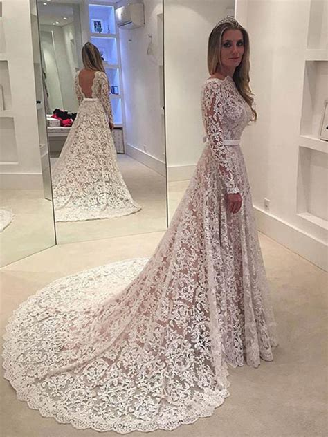 lace wedding dresses lace backless wedding dress rosaurasandoval