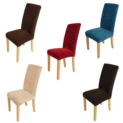 Covering Dining Chair Seats Fit Stretch Dining Chair Cover Protector Seat Slip Covers 5 Colors Ebay