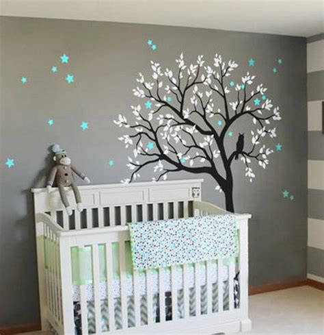 ideal decor wall murals large owl hoot tree nursery decor wall decals wall baby idecoroom