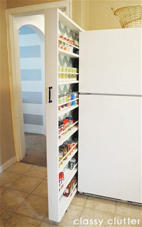 pull out storage diy diy pull out canned food organizer