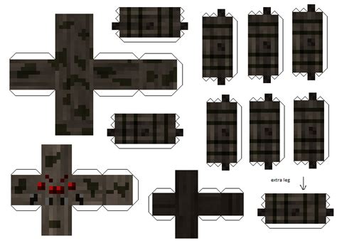 Minecraft Papercraft Spider - papercraft spider version 2