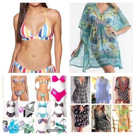 bikini ve kaftan plaj elbisesi karisik  giyim