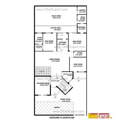 home design for 100 sq yard house plan for 48 feet by 100 feet plot plot size 533 square yards gharexpert com