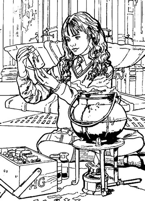 harry potter coloring book set harry potter ginny coloring page coloring home