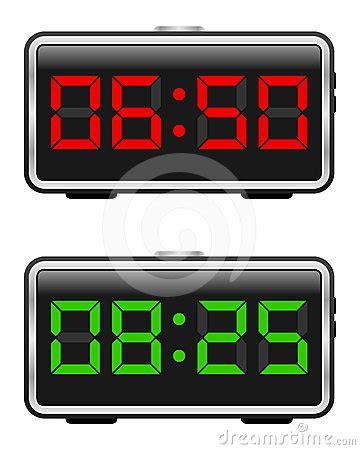 digital alarm clock set stock photography image