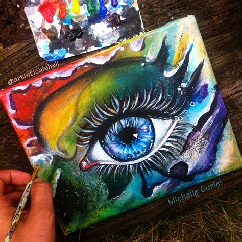 acrylic paint eye just another eye painting by artisticalshell on deviantart