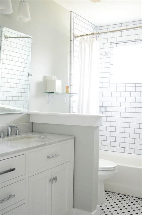 white tile dark grout bathroom bathroom white subway tiles black grout pony ideas