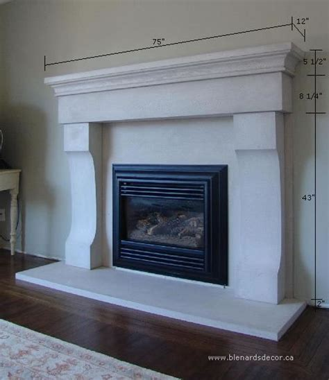 Fireplace Hearth Size by Fireplace Mantel 03 With Dimensions