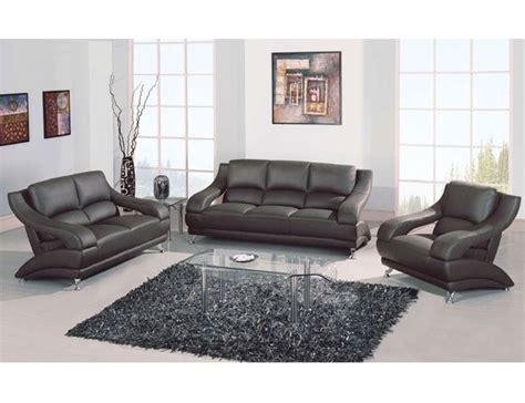 Upholstered Living Room Sets Versatile Shaped Leather Upholstered Living Room Set San Francisco California Gf982