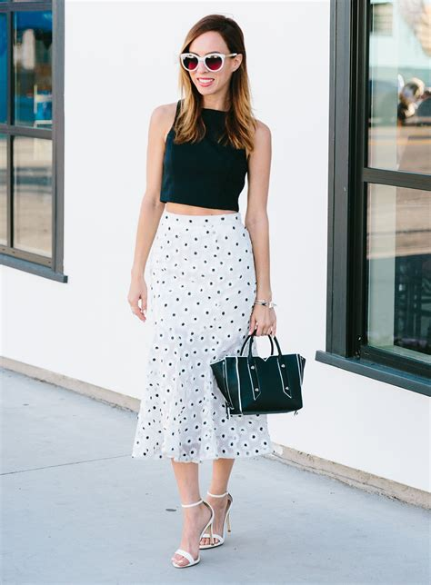 Top Flare Skirt what to wear with a flare skirt 2016 fashion