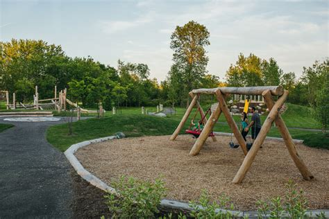 natural swing natural playground swing basket robinia earthscape play