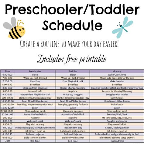 create a printable daily schedule toddler and preschooler daily schedule tales of beauty