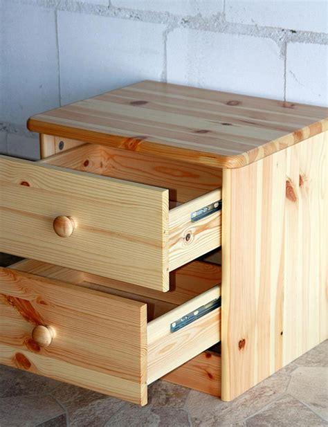 Nachttisch Holz Natur nachtkommode nachtschrank nachttisch natur lackiert
