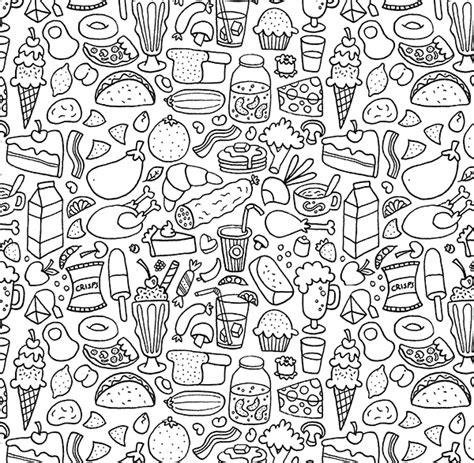 doodle for food doodle patterns on behance