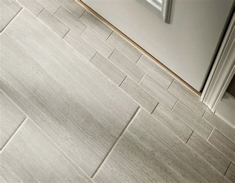 bathroom flooring lowes master bath leonia silver porcelain tile 12 x 24 for the
