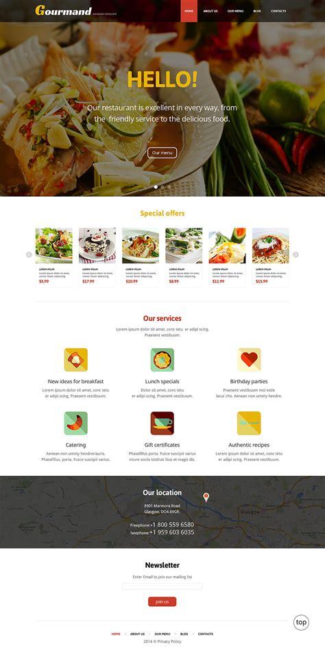 restaurant themes html gourmet restaurant wordpress theme 47709