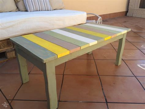 Colorful Table L by Colorful Wood Slat Table 183 Int L Club Challenge