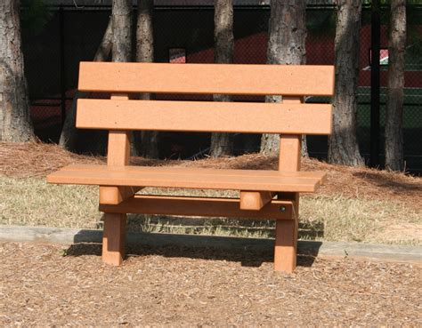 how to play park bench recycle plastic lumber bench with back green play parks