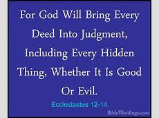 Ecclesiastes 12 - Holy Bible English - BibleWordings.com Hebrews 12:14
