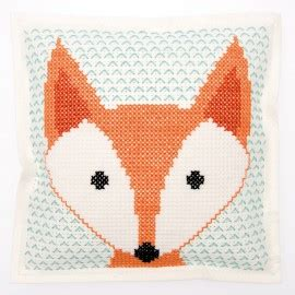 rico design embroidery kits embroidery kit rico design cushion fox