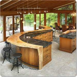 Island For A Kitchen by Curved Island Bar Design For A Kitchen