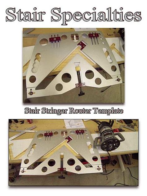 stair stringer router template using a stair stringer router template