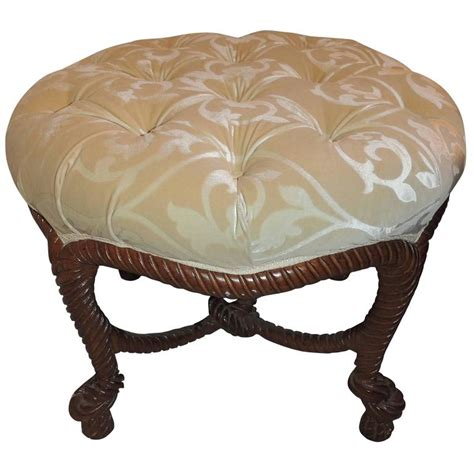 elegant ottomans elegant french wood rope tassel bow tufted ottoman round