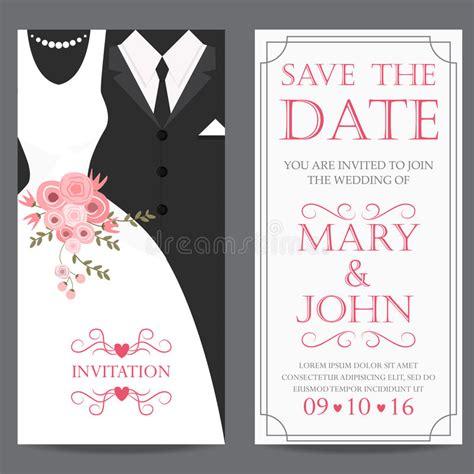 wedding day invitation and groom wedding invitation card stock vector