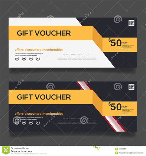 business voucher template gift voucher design vector template stock vector image