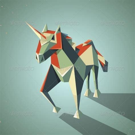Three Dimensional Origami - origami unicorn animals characters