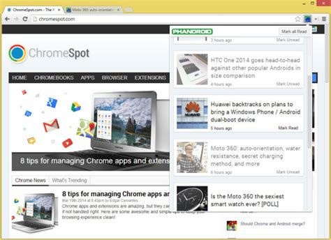 chrome extension android phandroid news chrome extension now available